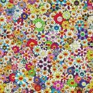 flowers, flowers, flowers, sfield of smiling flowers (set of 2) by takashi murakami