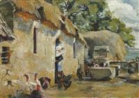 cour de ferme by robert delaunay