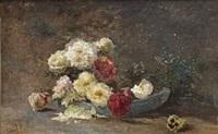 bloemenweelde: a bouquet of wild roses by paul joseph constantin gabriël