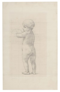study of child with doves by elliot daingerfield