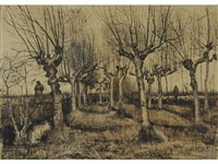 oseraie et berger by vincent van gogh