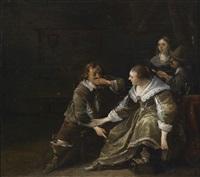 elegante gesellschaft in einem interieur by anthonie palamedesz