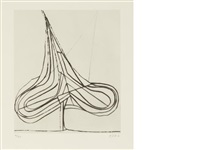 spade drypoint (from five spades) by richard diebenkorn