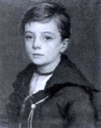 untitled - portrait of a young boy by charles napier kennedy