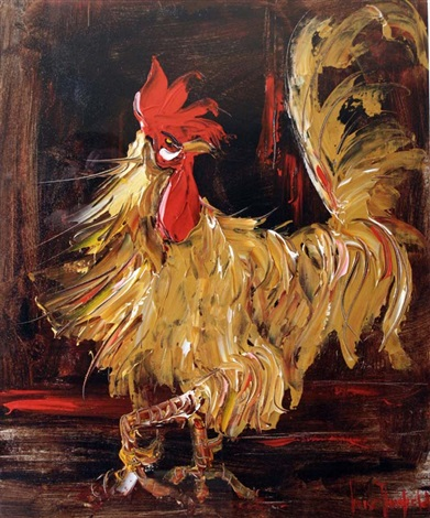 cockerel by louise mansfield