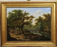 paysage animé aux bergers by frans swagers
