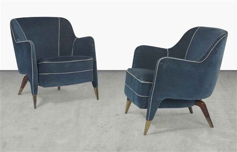 Unique armchairs pair by Gio Ponti on artnet
