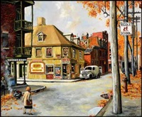 beaudry street, montreal by john geoffrey caruthers little