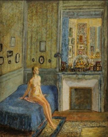 nu dans la chambre bleue by alexis paul arapov