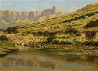 pool on the tugela river, natal national park, drakensberg by cathcart william methven