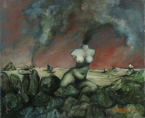 nude in the landscape by esther peretz arad
