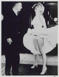 marilyn monroe & billy wilder on set seven year itch by frank worth
