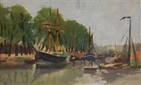 bateaux sur le canal de willebroeck by henri evenepoel