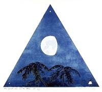 three quarter moon-two evening stars by bill beckley