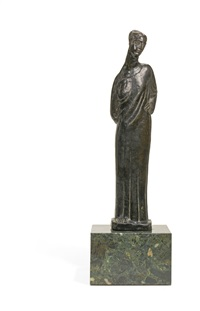 statuette of a woman, possibly lady maud cunard by ivan mestrovic