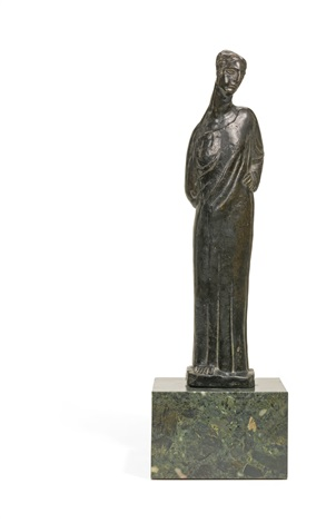 statuette of a woman possibly lady maud cunard by ivan mestrovic