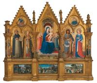 polittico dei domenicani - madonna mit kind und heiligen (polyptych) by fra angelico