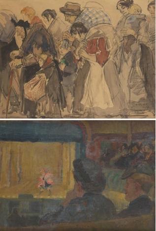 dans la loge de théâtre various sizes 2 works by gérardus hendrik grauss