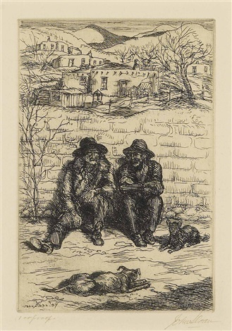 hombres in the sun by john french sloan