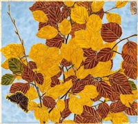 buche im herbst by paula maria (rossler) von goeschen