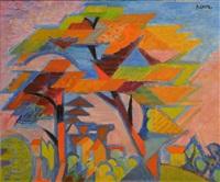 paysage cubiste by andré lhote