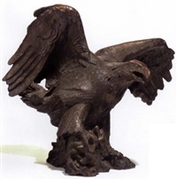 orn med upspilede vinger by mogens boggild
