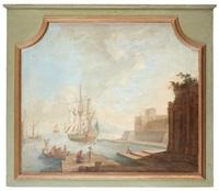 hamnbild med svenskflaggat fartyg by johan nils asplind