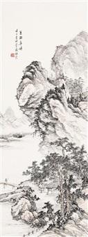 山水条幅 by ren yan