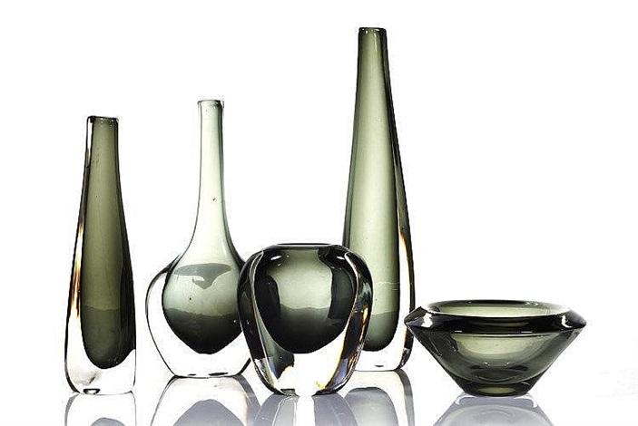 Assorted Sommerso Glass Vases By Nils Landberg On Artnet