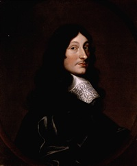 portrait of thomas marriott of whitchurch, warwickshire, wearing a black coat and white cravat by cornelius de neve