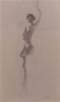 standing nude seen from behind by johann hendrikus moesman