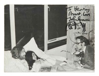 john lennon and yoko in bed, room 702 at the amsterdam hilton hotel march by henri pessar