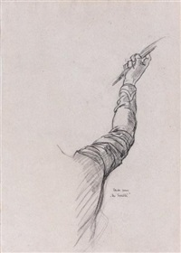 étude du bras de l'enfant aux bulles de savon (+ 4 others; 5 studies) by thomas couture