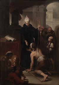 santo tomás de villanueva (after murillo) by antonio cabral bejarano