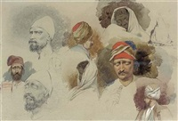 study of eastern heads and figures by richard dadd