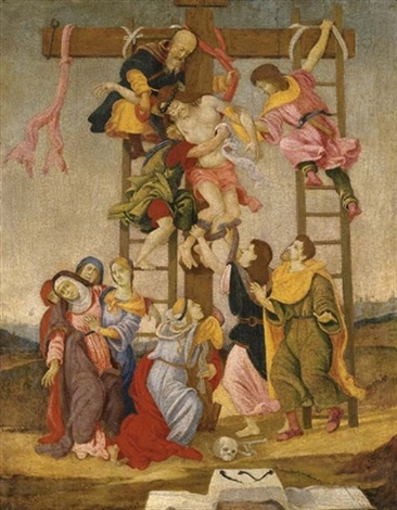 the deposition after fillipino lippi and perugino by niccolò cartoni zoccolo