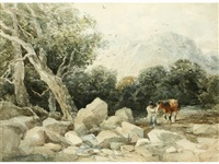 welsh landscape by david cox the elder