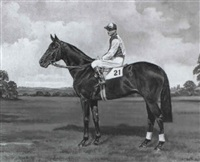 parthia (with jockey w.h. carr up) by richard anscomb