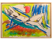 woman sunbathing by k.h. hödicke