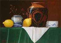persian vase & lemons by paul kavanagh