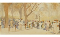 april, sunday in the park by yoshio markino