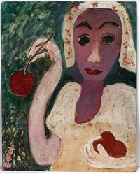girl with cherry by jon serl