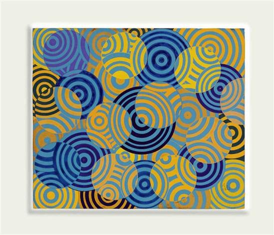 interférences en bleu et jaune no 642 by antonio asis