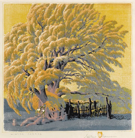 winter corral by gustave baumann