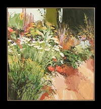 entrance garden, west view #2 by douglas atwill
