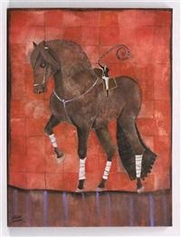 caballo de mosaico by arturo morín