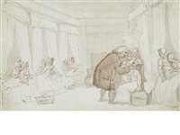a physician at a girl's boarding school by thomas rowlandson