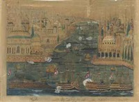 a stylised view of the golden horn by anonymous-ottoman (19)