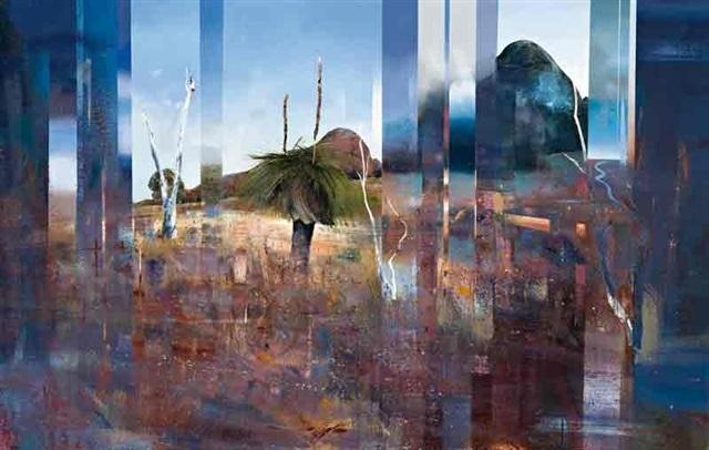 landscape with xanthorea by ken johnson