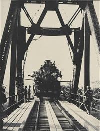 'on the train' der erste zug auf der strecke der turksib / the first train on the turk-sib route by max vladimirovitch alpert
